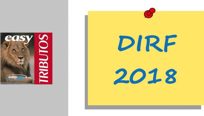 DIRF deverá ser entregue até 28/02